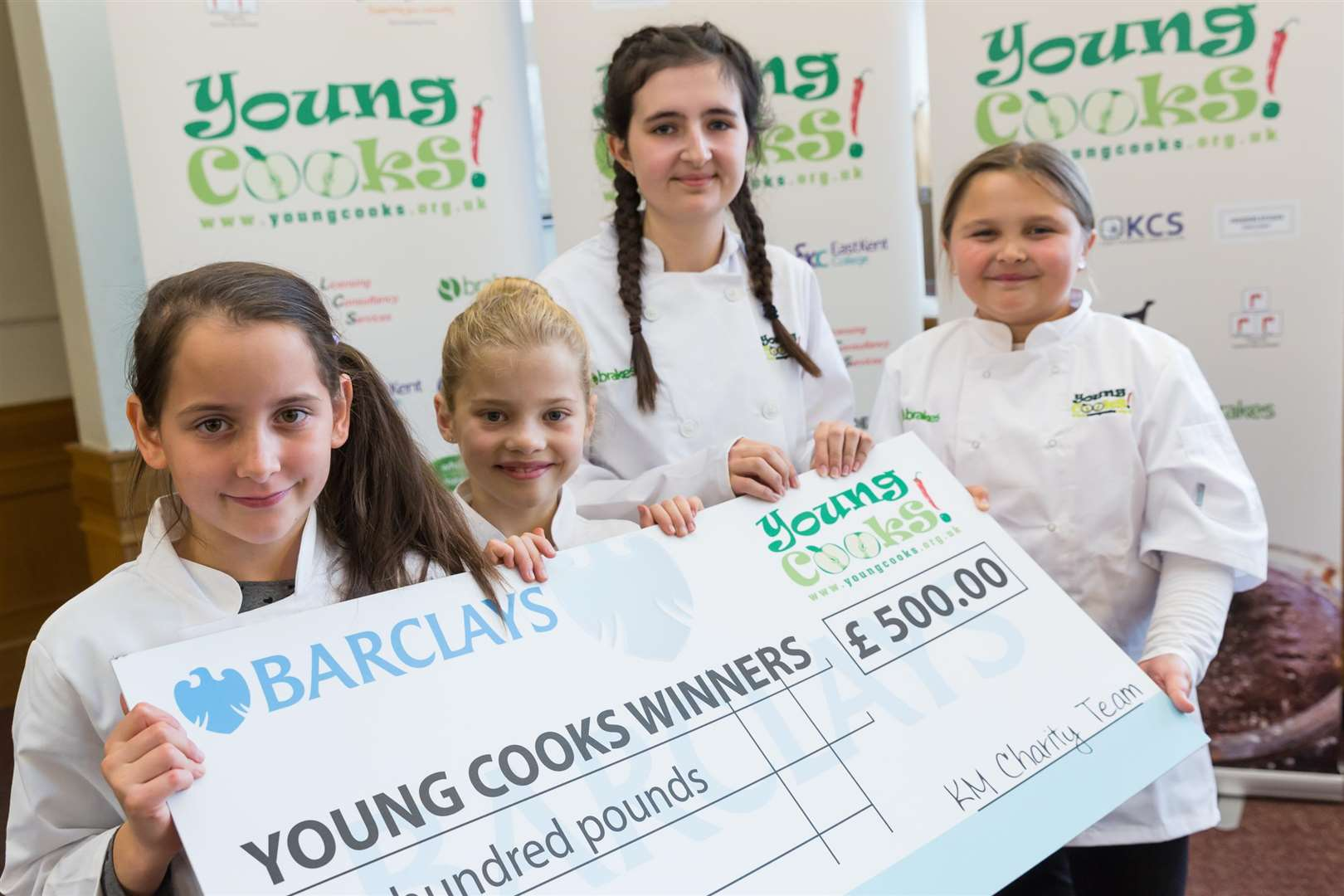 Overall Young Cooks 2018 champ Boglar Bote-Godri with category winners Amelia Phillips, Amelia Page, and Brooke Keen.