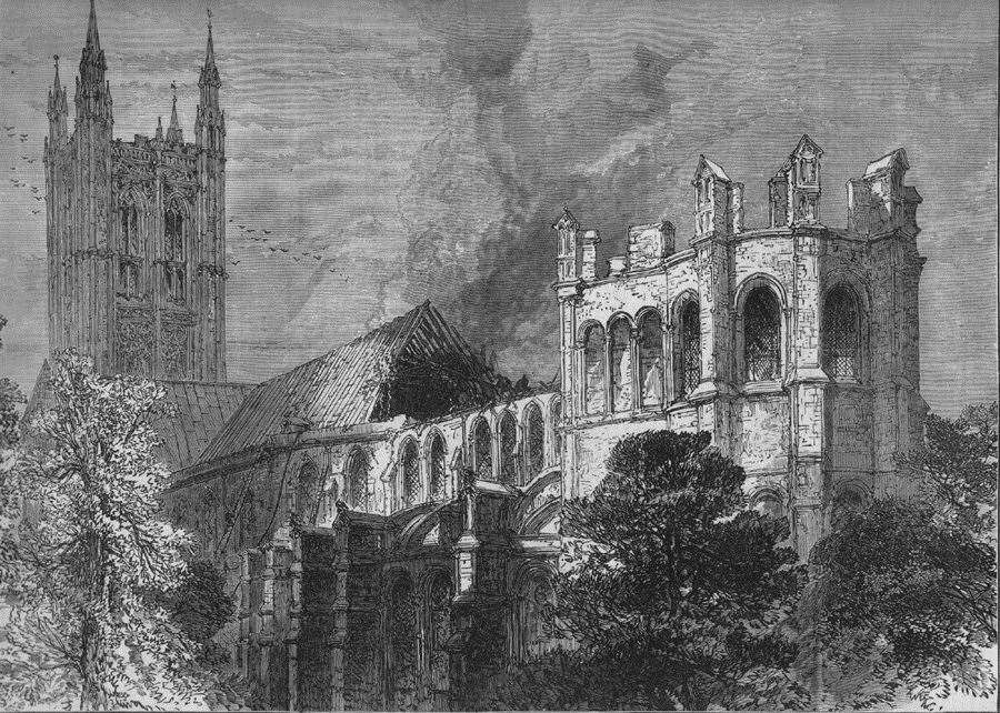 The fire in 1872 destroyed part of the Cathedral roof (8662774)
