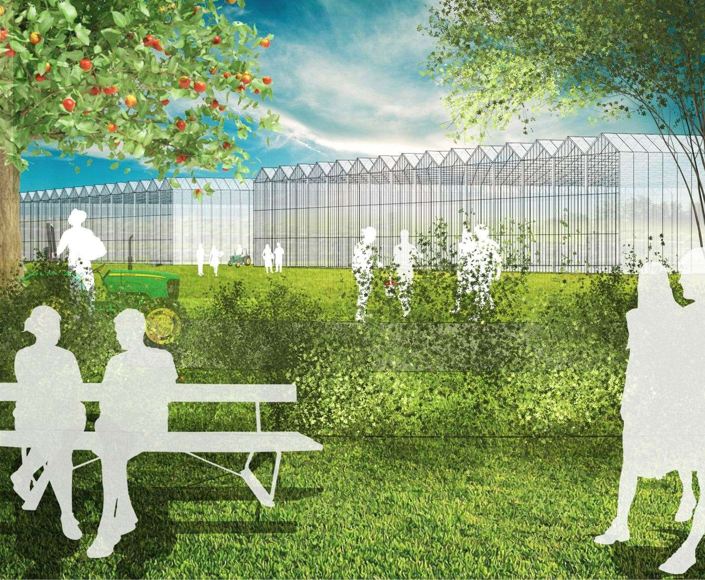 How the advanced horticultural technology zone could look
