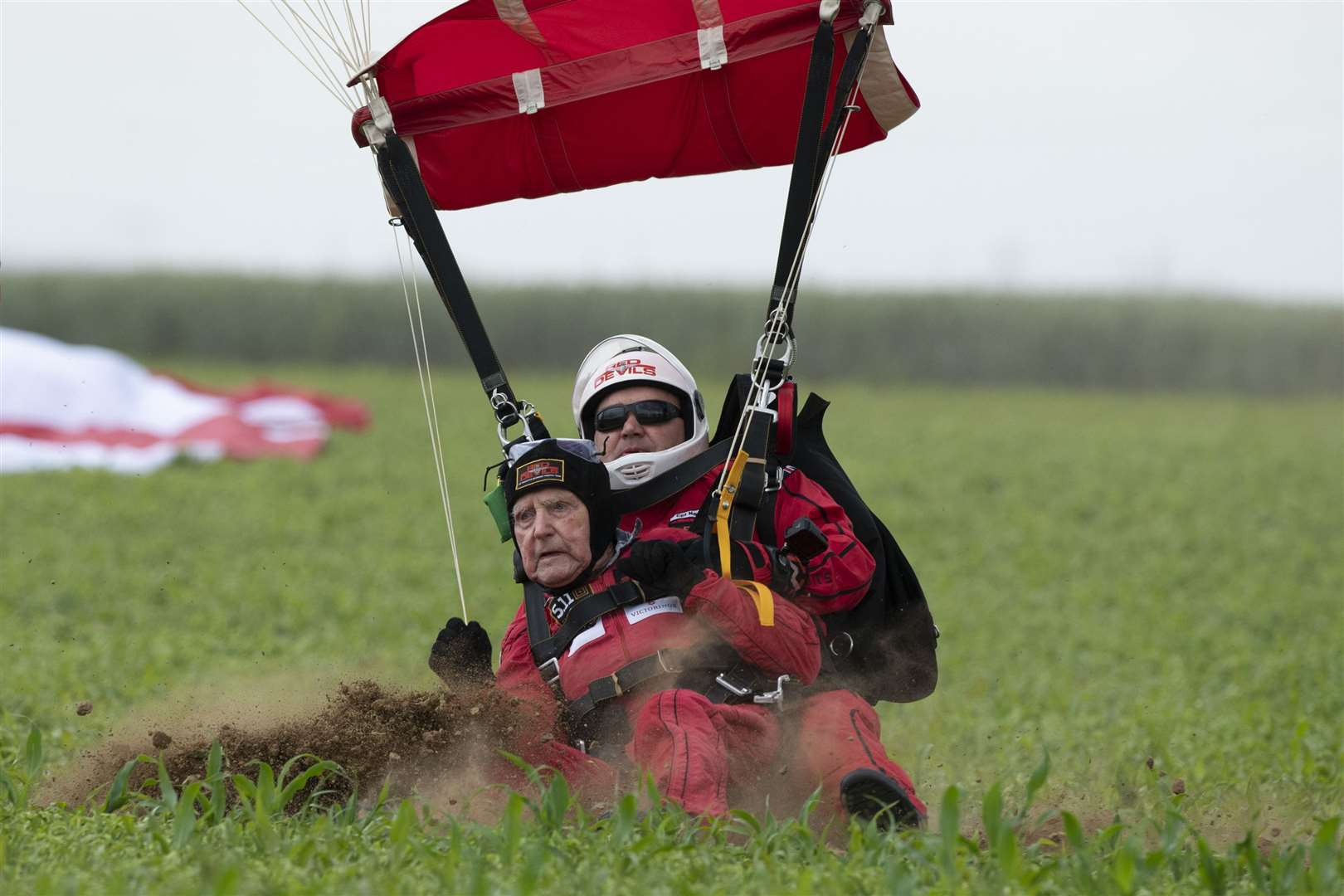 This was the fourth time Mr Hutton had done the jump. Picture: Cpl Robert Weideman.