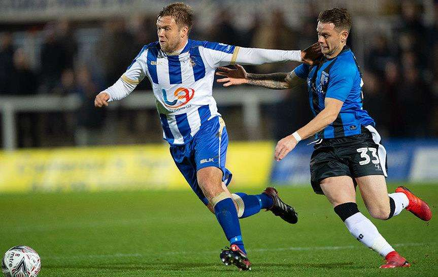Gillingham's Mark Byrne in action at Hartlepool Picture: Ady Kerry