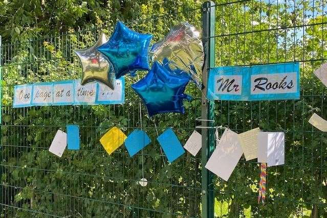 Staff and pupils left tributes for the well-liked teacher. Pictures: Thinking Schools Academy Trust