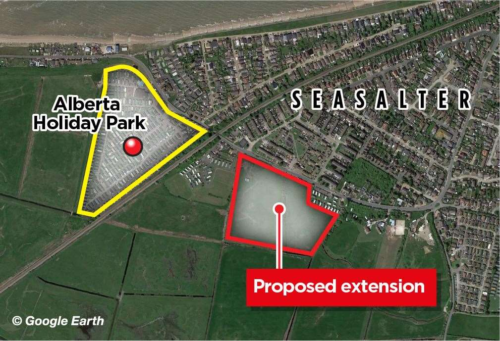 Where the proposed caravans would be sited