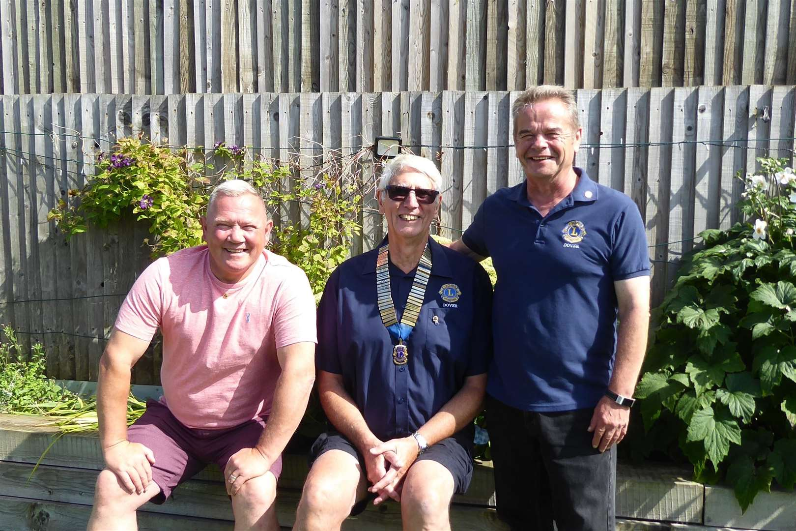 Past and current presidents, left to right, Garry Dixon, Len Button and Kevin Finnon.  Photo: Lions Club of Dover