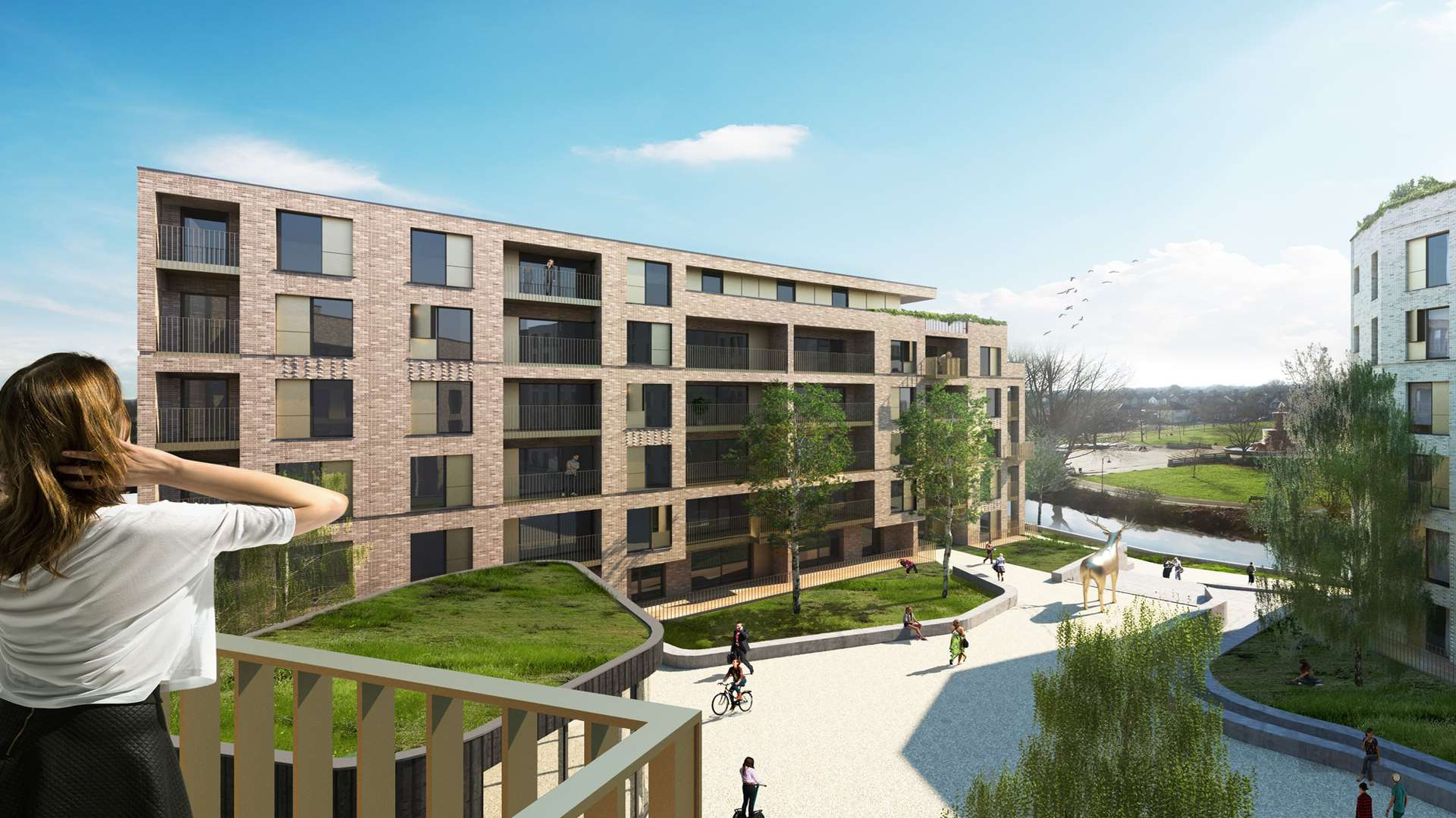 Apartments on old Powergen site in Ashford approved