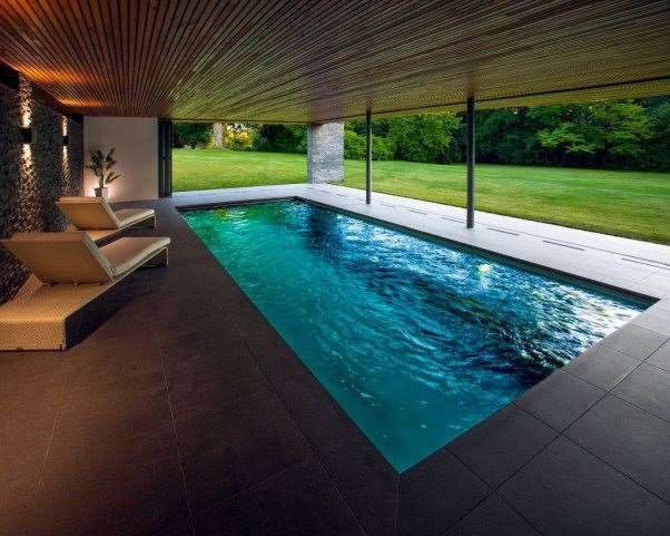 This pool was highly awarded in the British Pool & Hot Tub Awards