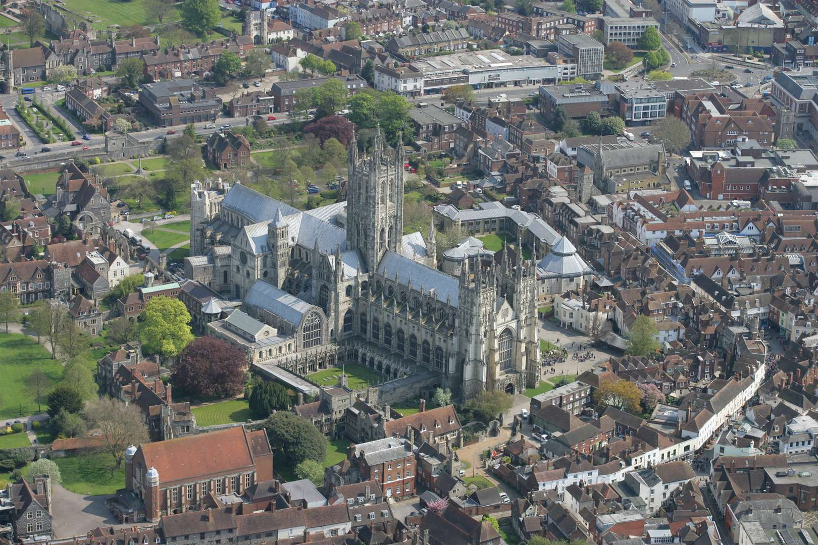 An aerial view Cathedral