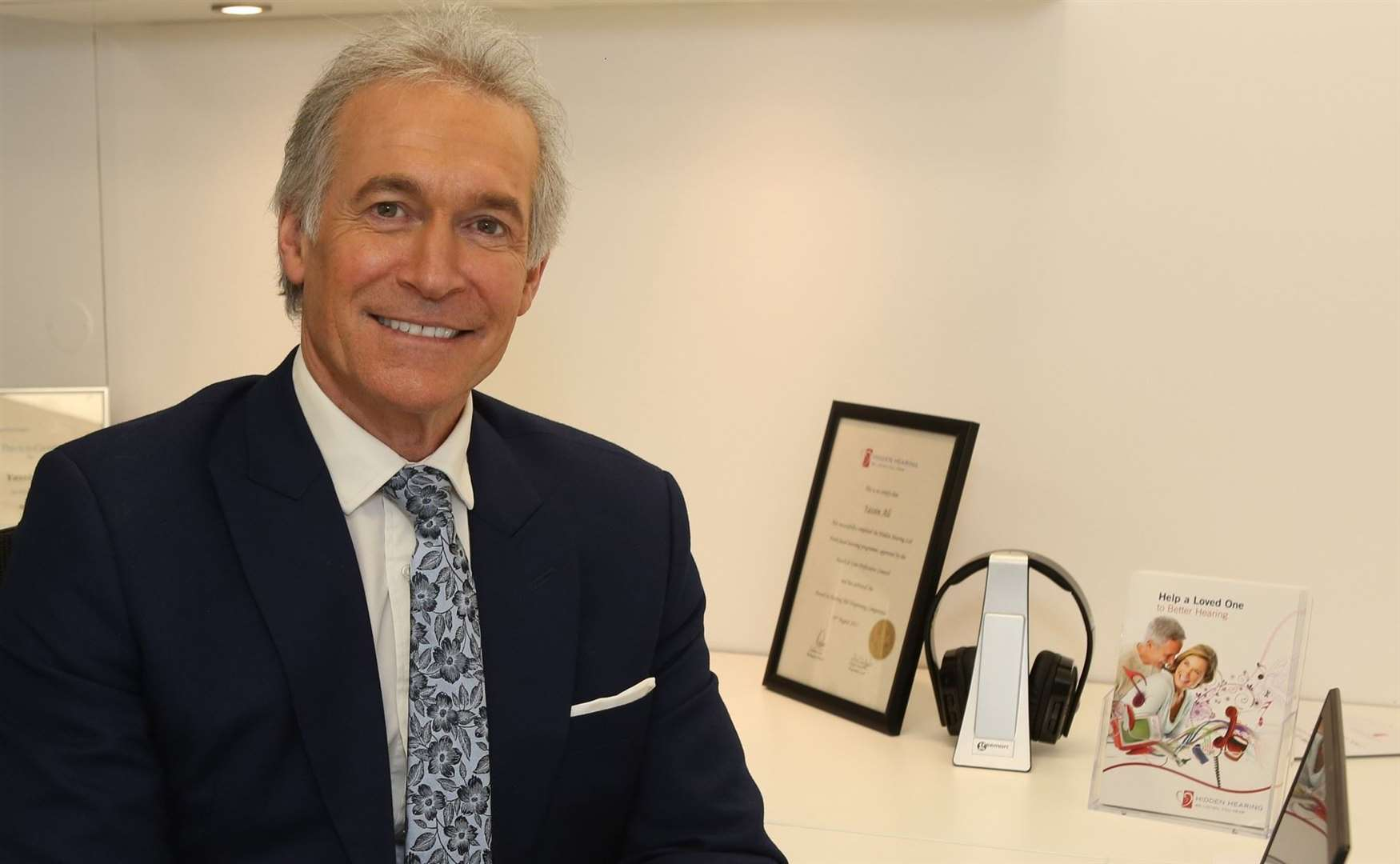 "Dr Hilary Jones, GP and health broadcaster: ""We know that four in 10 people over 50 in the UK have hearing loss but they may take up to seven years to get a hearing test."""