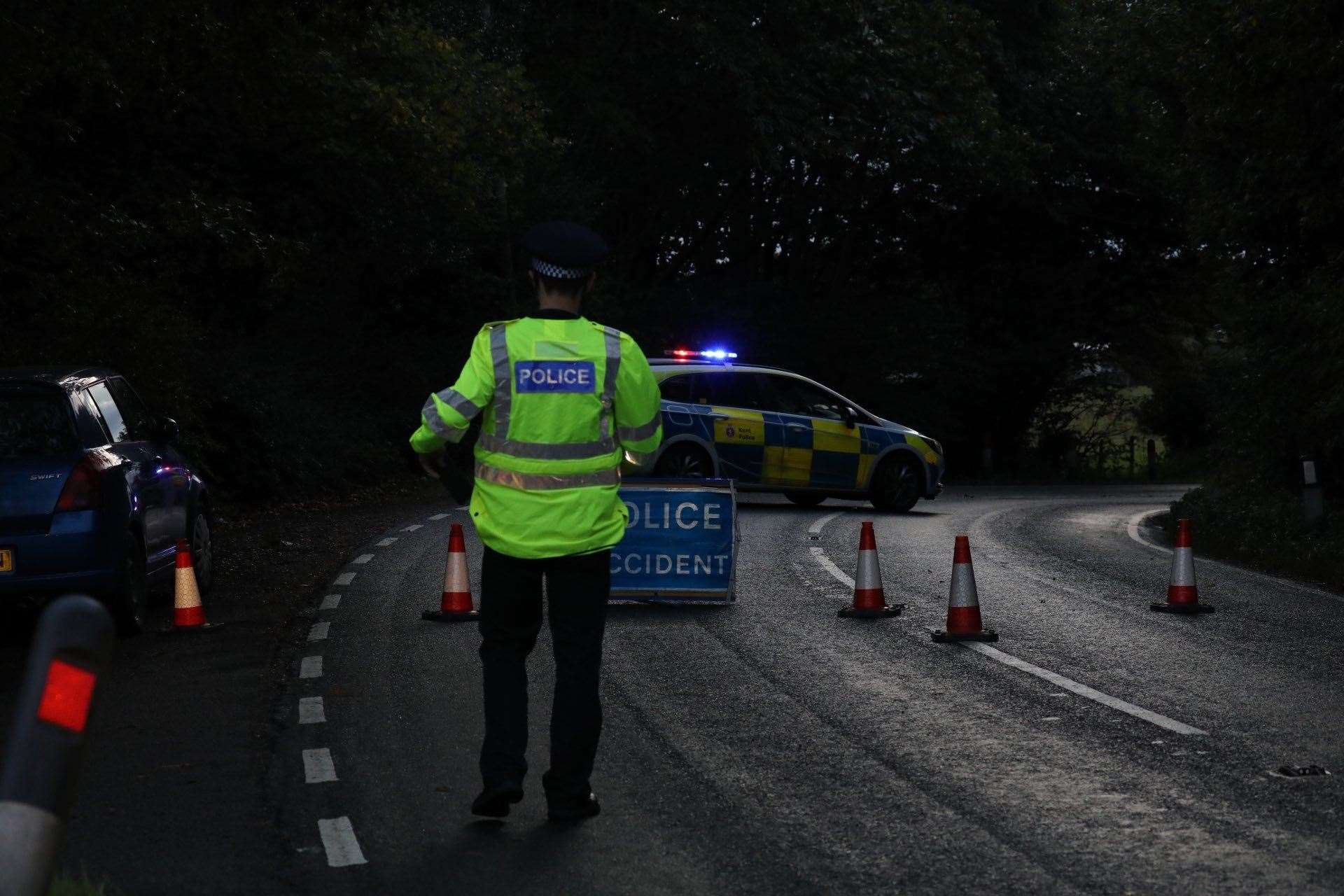 The road has been closed following the crash. Picture: UKNiP