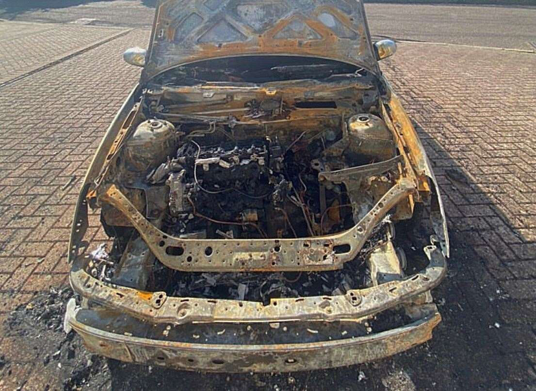 A Ford Focus belonging to a retired Gurkha was destroyed by fire in Maidstone last week
