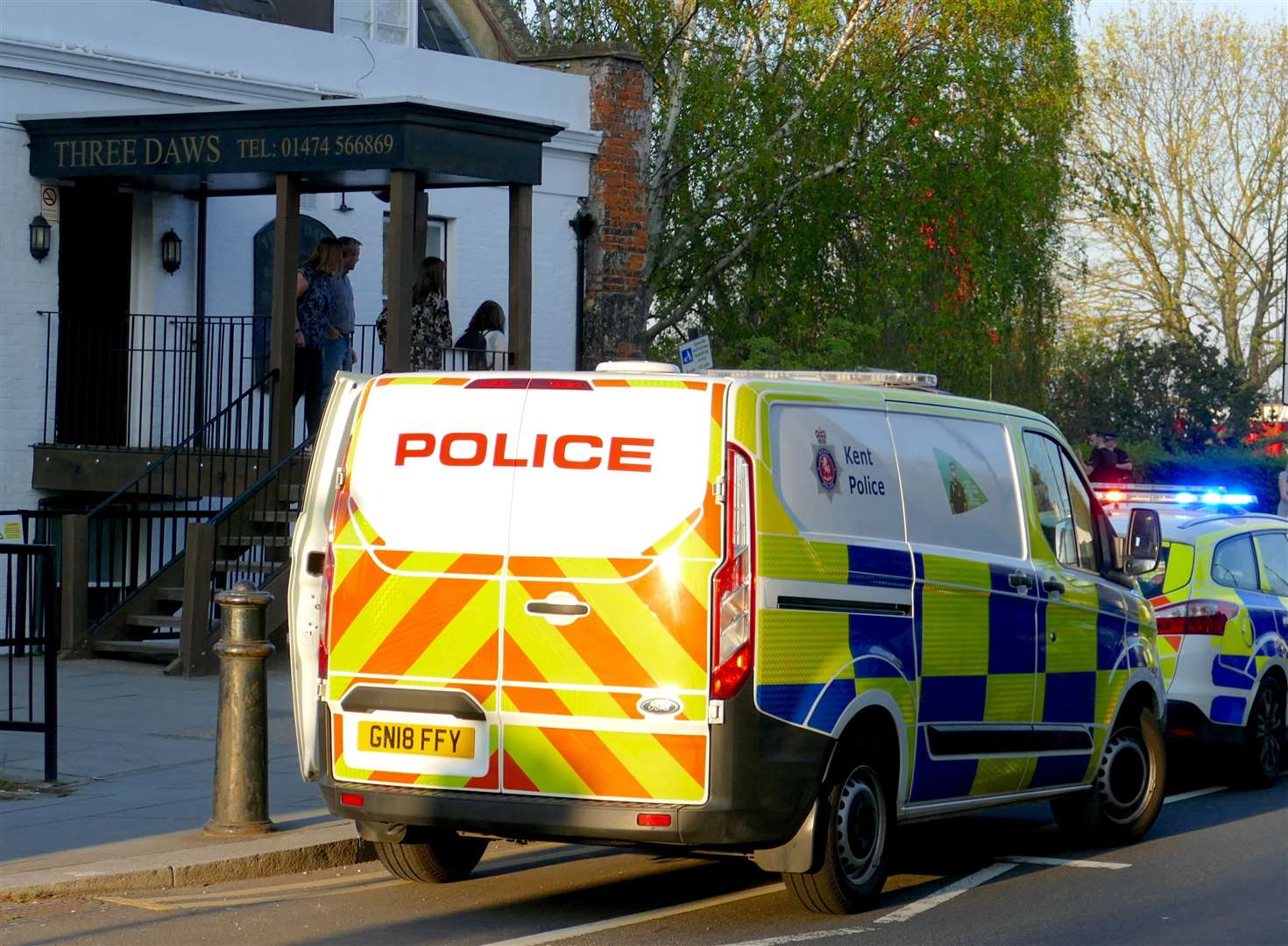Police were called to the Three Daws pub in Gravesend (8899259)