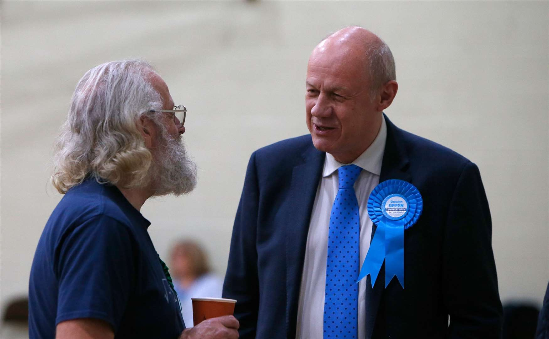 A delighted Damian Green at last night's count. Picture: Andy Jones