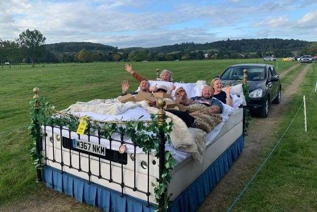 Settling back in style at Tom Kerridge's Drive-In Garden Party Picture: Edd Cope