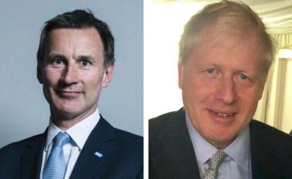 Boris Johnson and Jeremy Hunt will be in Kent later