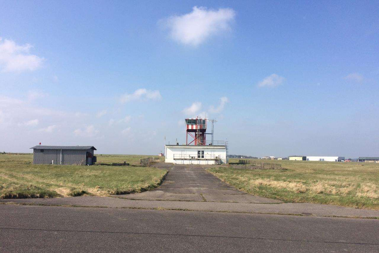 The control tower is one of a number of buildings that the group say will be kept and given new uses
