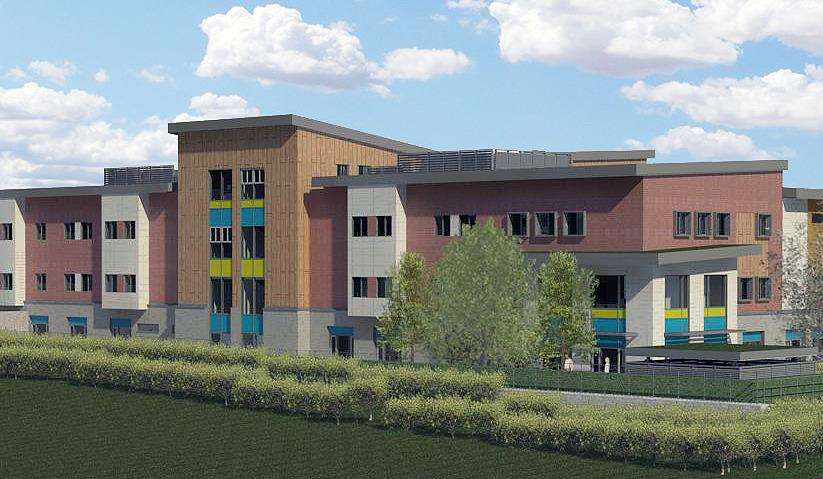 Artist's impression of the Cygnet Hospital at the Kent Medical Campus in Maidstone