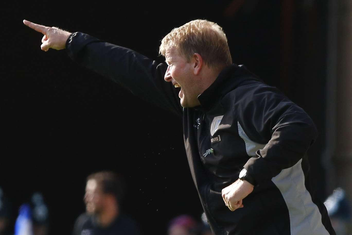 Gills boss Ady Pennock shouts instructions from the touchline Picture: Andy Jones