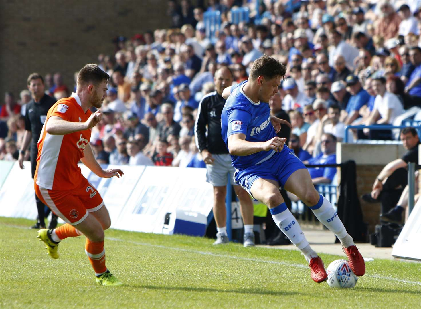 Gillingham defender Ben Nugent on the ball Picture: Andy Jones