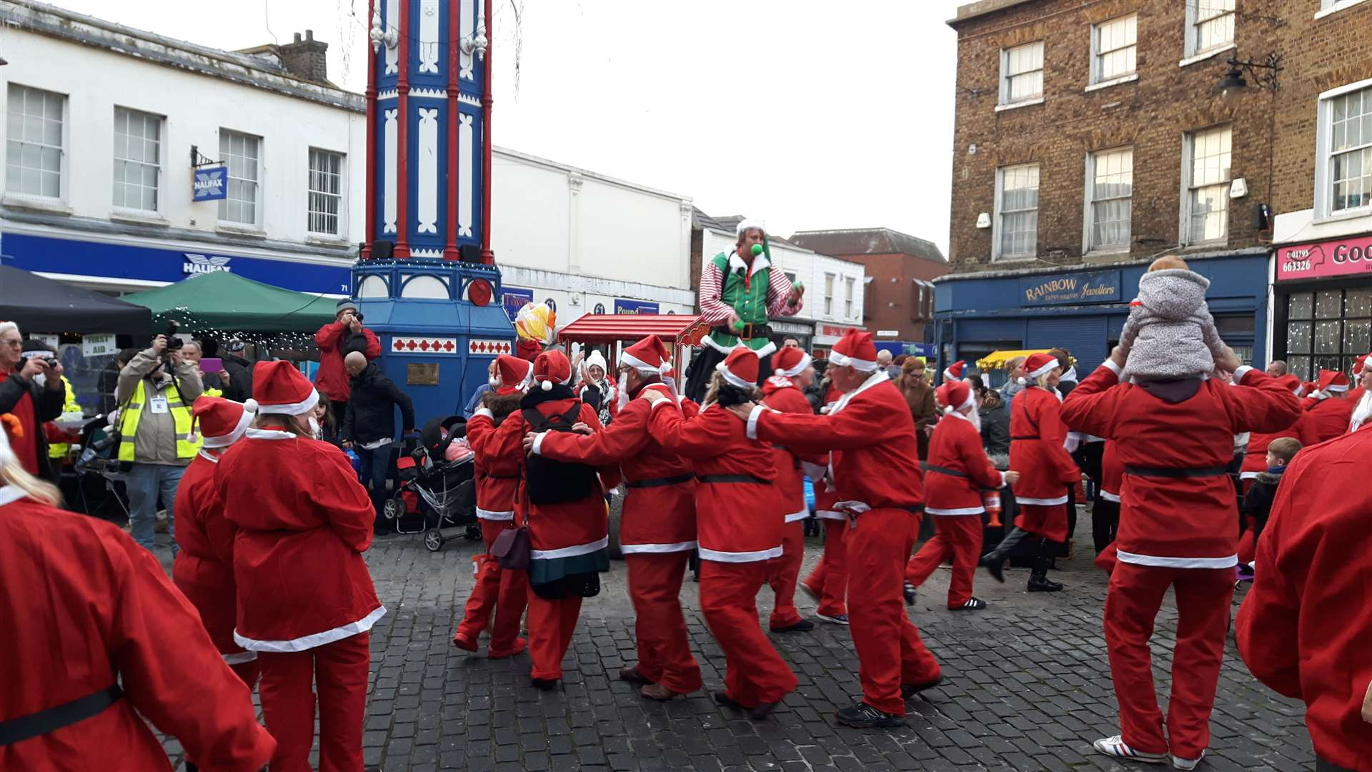 Rotary Club Santas will be holding a Christmas Conga around the clock tower at the Sheerness lights switch-on at 3pm this Saturday (22863682)