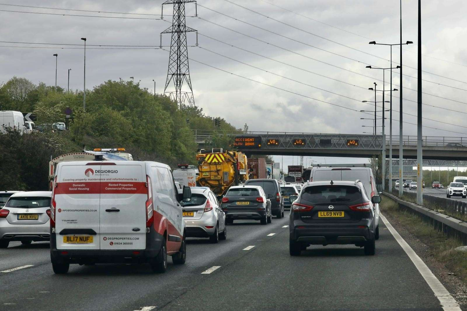 There are delays along the A2 near Gravesend due to a multi-car crash. Photo: UK News and Pictures
