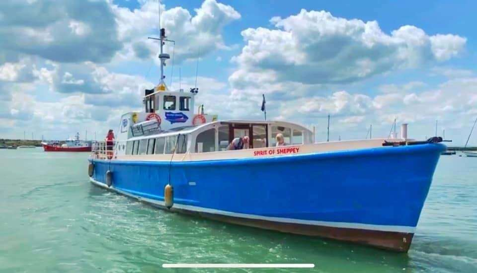 The Spirit of Sheppey earlier this year with its new blue hull. Picture: Island Cruises (40683416)