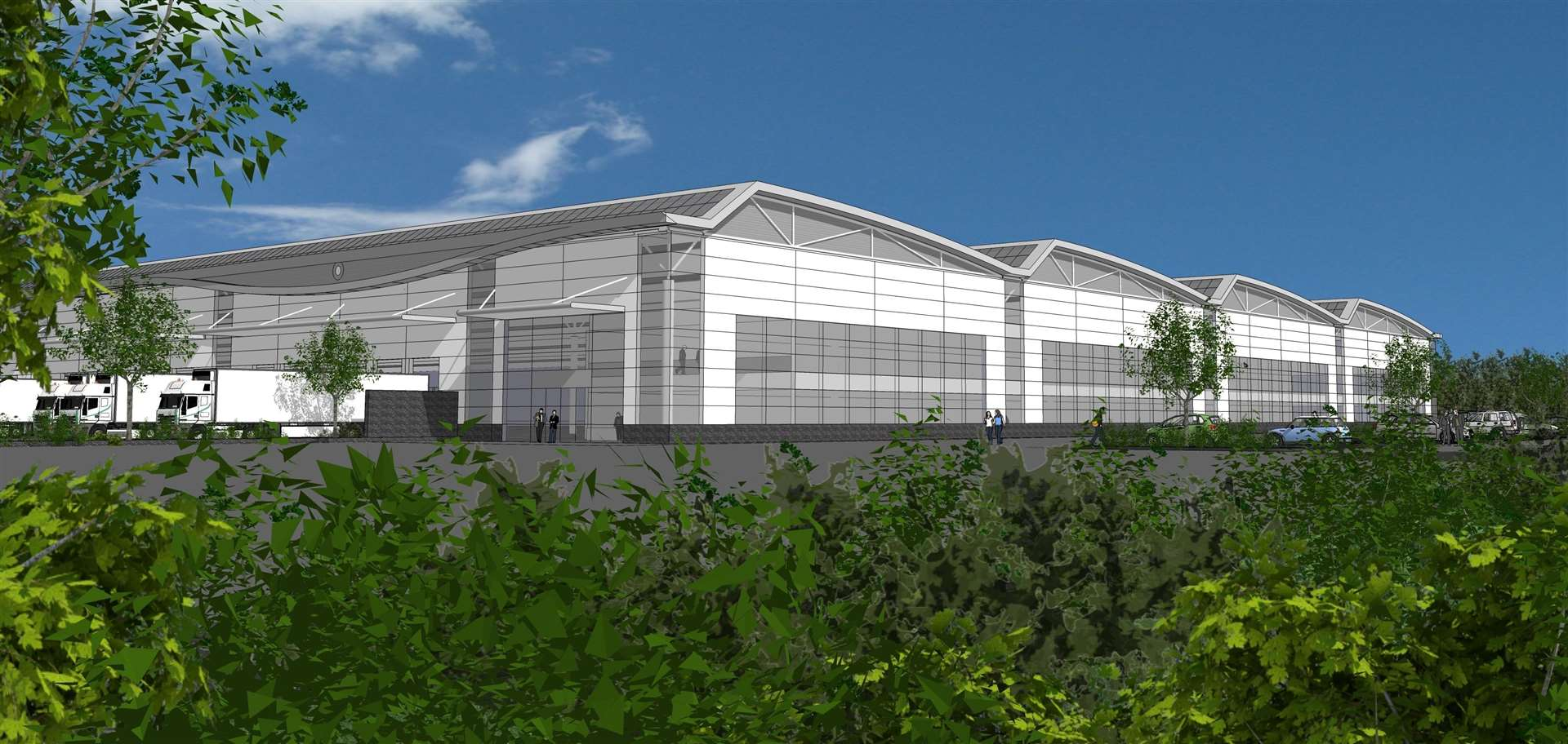 The site was previously set to become an industrial estate. Pictured is a CGI of how the estate was planned to look