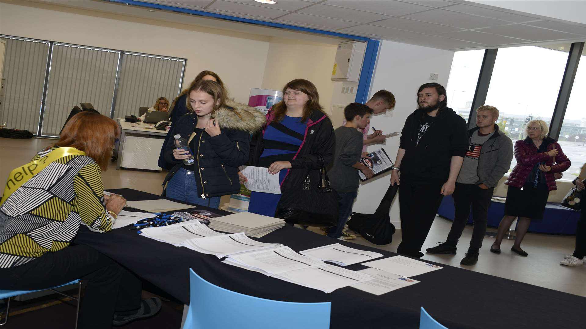 Students enrolling at the new Ashford College