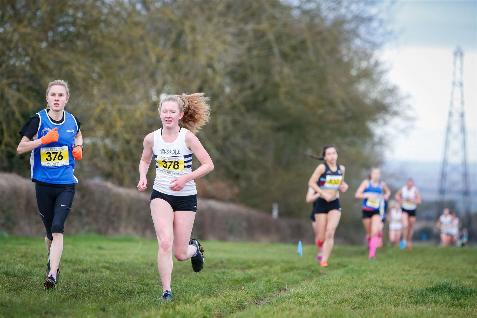 Elena Jury of Swale Combined AC at the 2020 Kent Cross-Country Championships Picture: Matthew Walker