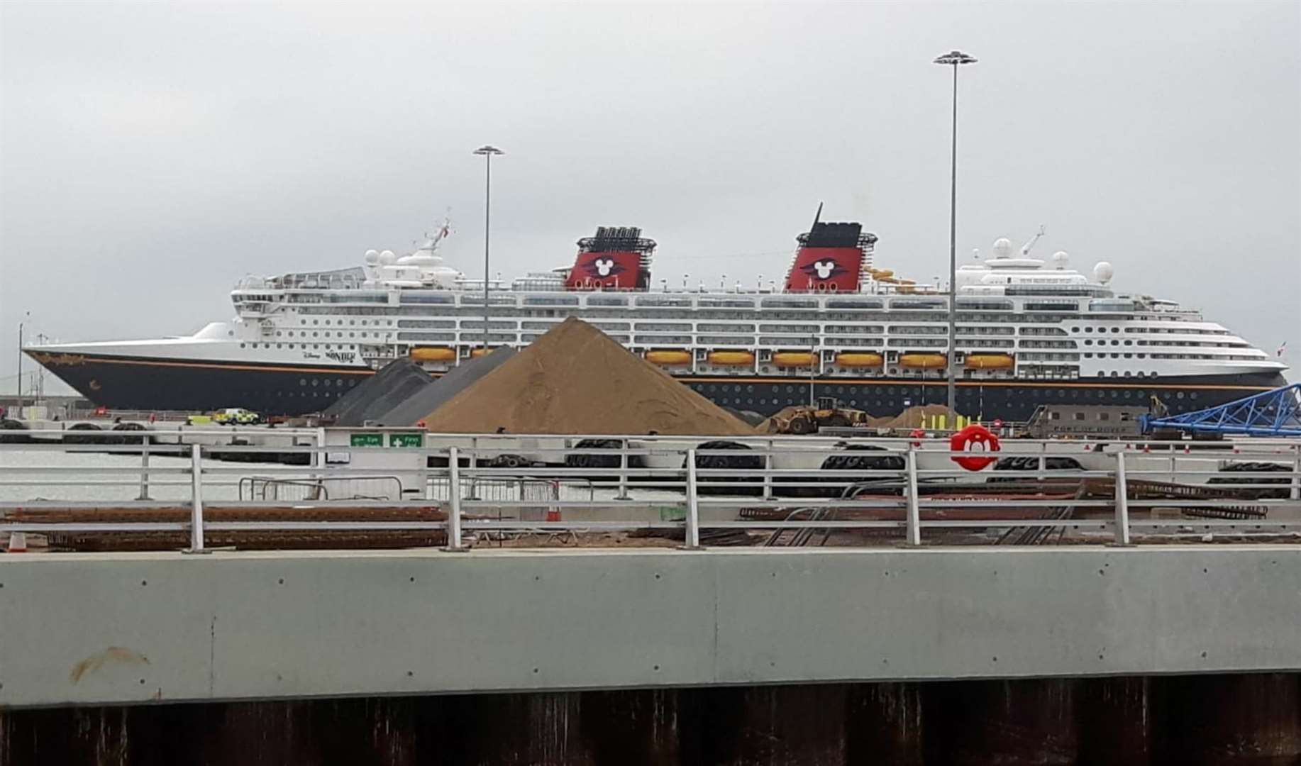 Disney Wonder is currently stationed in Dover
