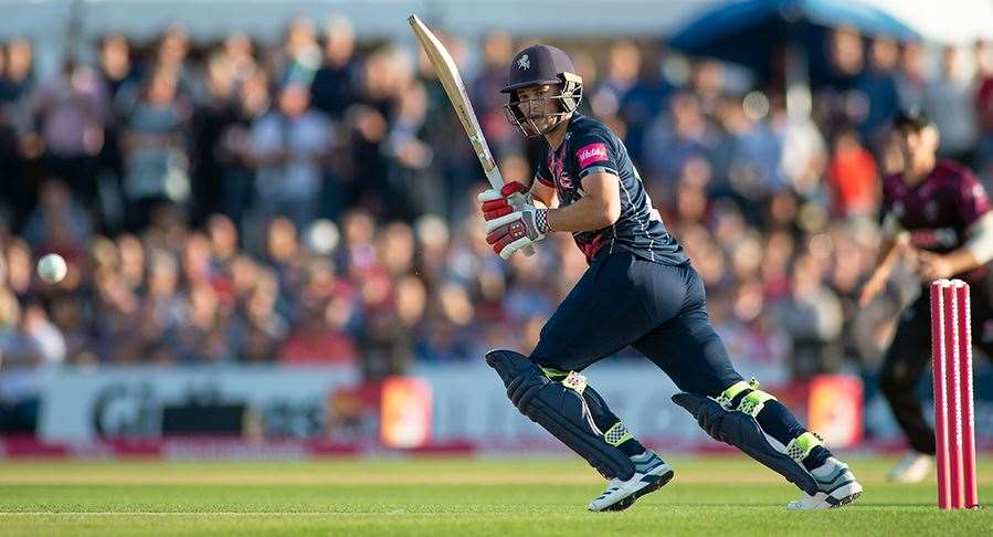 Ollie Robinson in action for Kent Spitfires against Somerset last year Picture: Ady Kerry