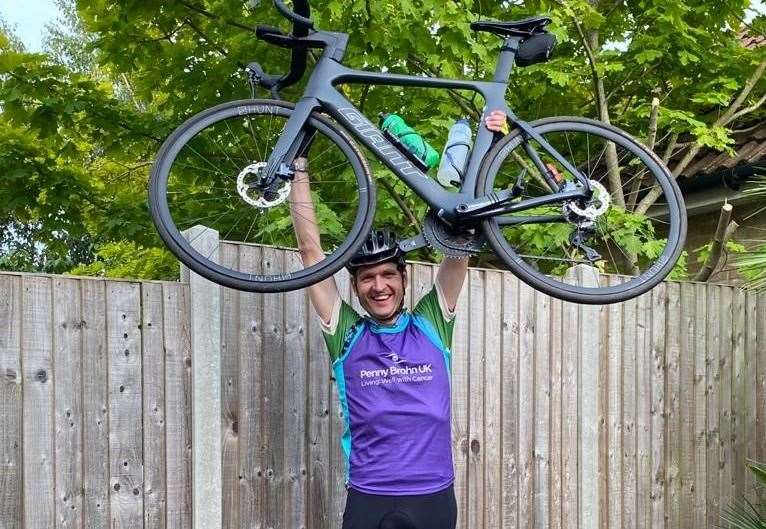Dave Wastall, from Iwade, cycled 155 miles in a single day around Kent to raise money for a good cause