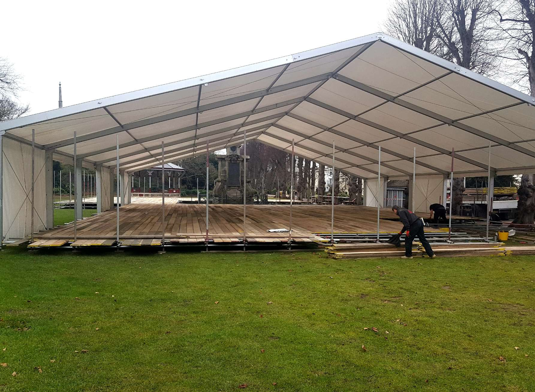 The opening of the ice rink in Canterbury's Dane John Gardens has been further delayed