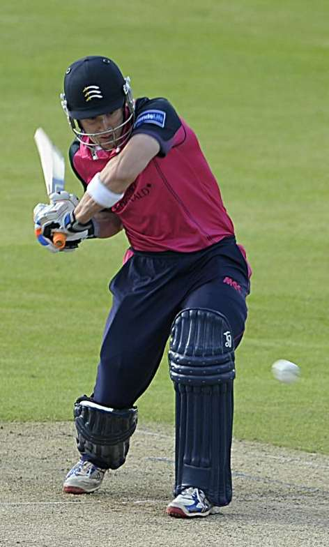 Joe Denly in action for Middlesex at Canterbury. Picture: Barry Goodwin.