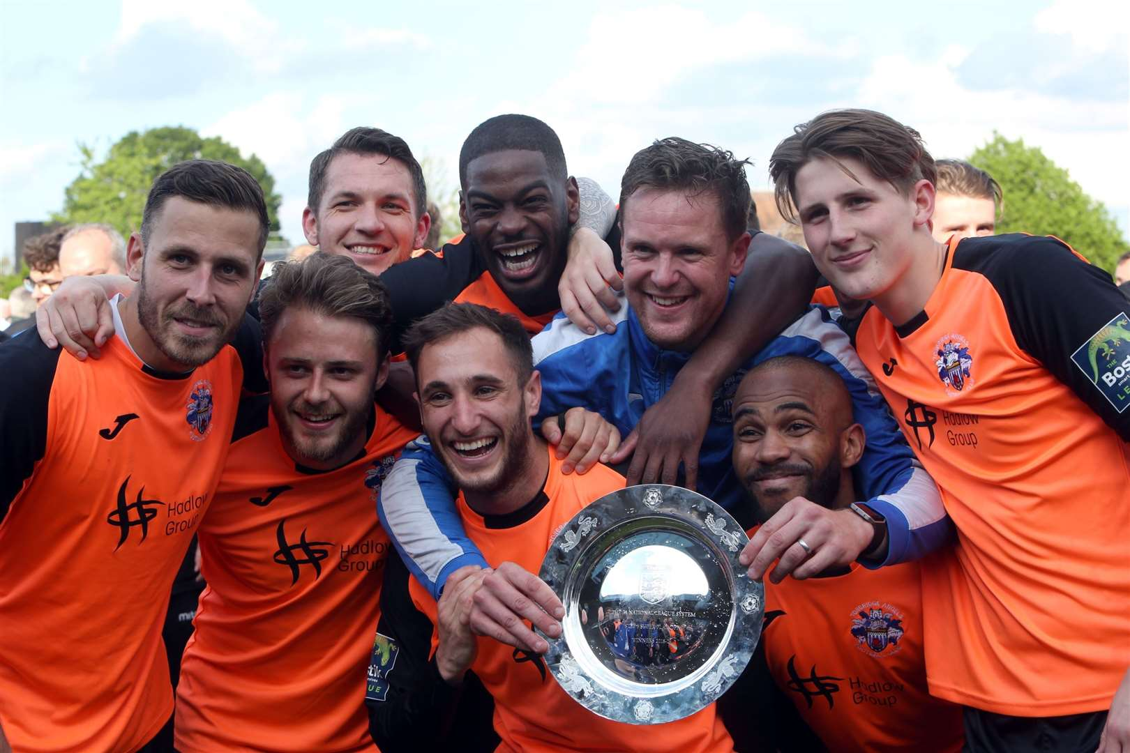 Tonbridge celebrate their promotion to National League South Picture: David Couldridge