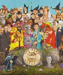A Discworld parody of a famous Beatles cover is among the artworks on display at Maidstone Museum