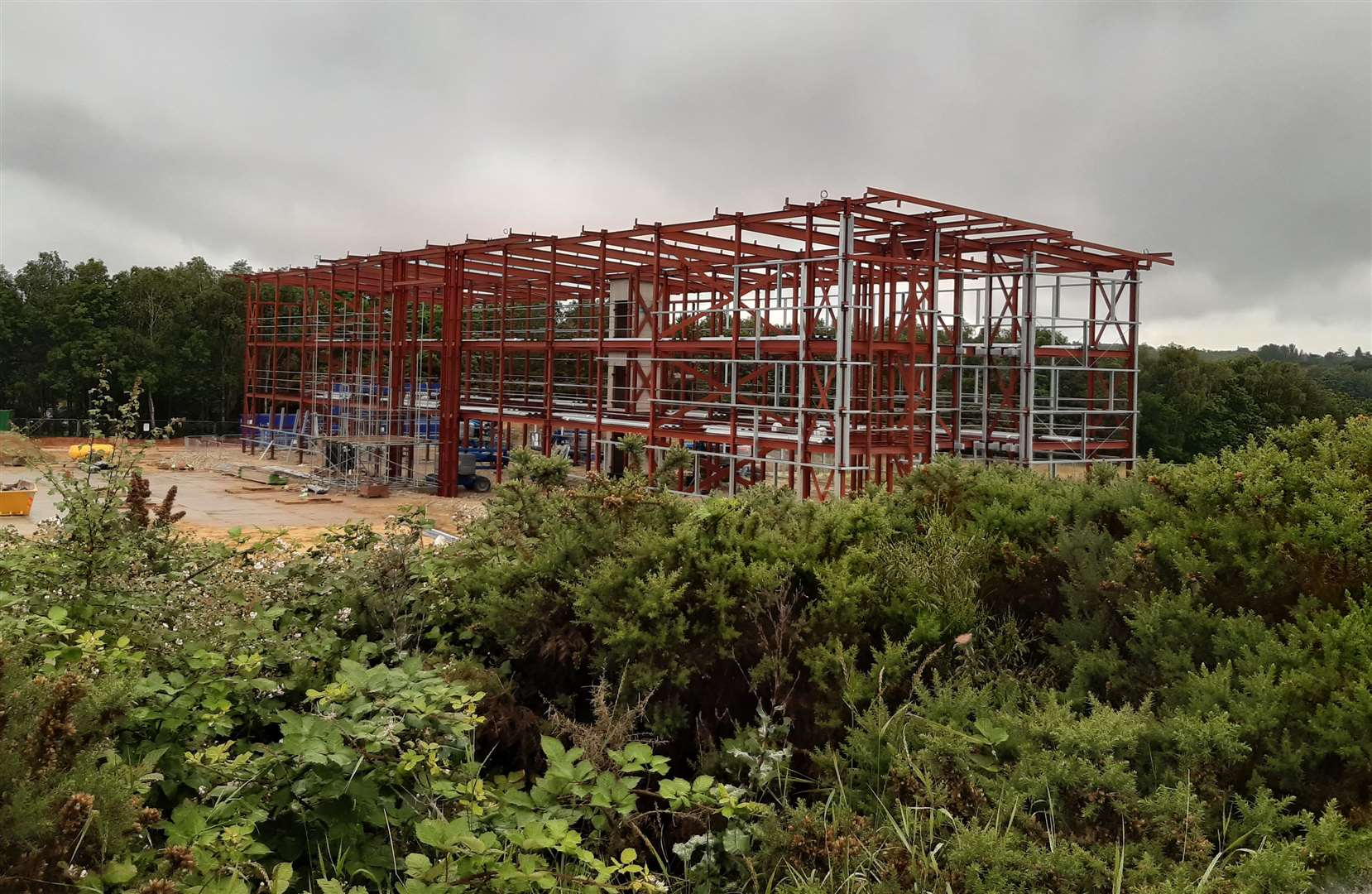 A new three-storey office block is currently being constructed off Trinity Road on the development site