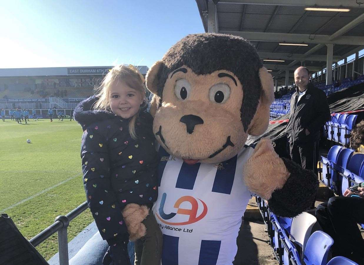 Ellie-May at a previous match last season in Hartlepool(17216806)