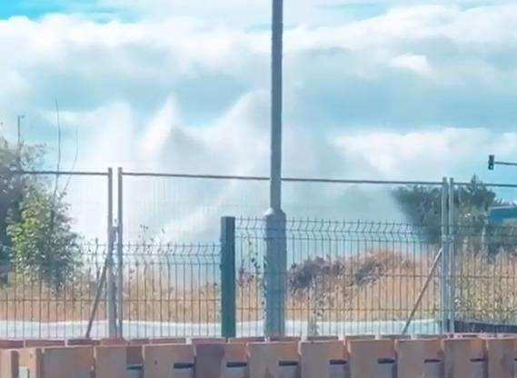 The burst water main in Dartford. Picture: Edward Alexander Webber