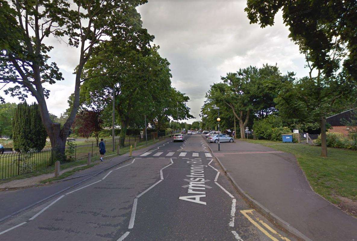 The teenager was threatened as he waited in his car in Armstrong Road, Tovil