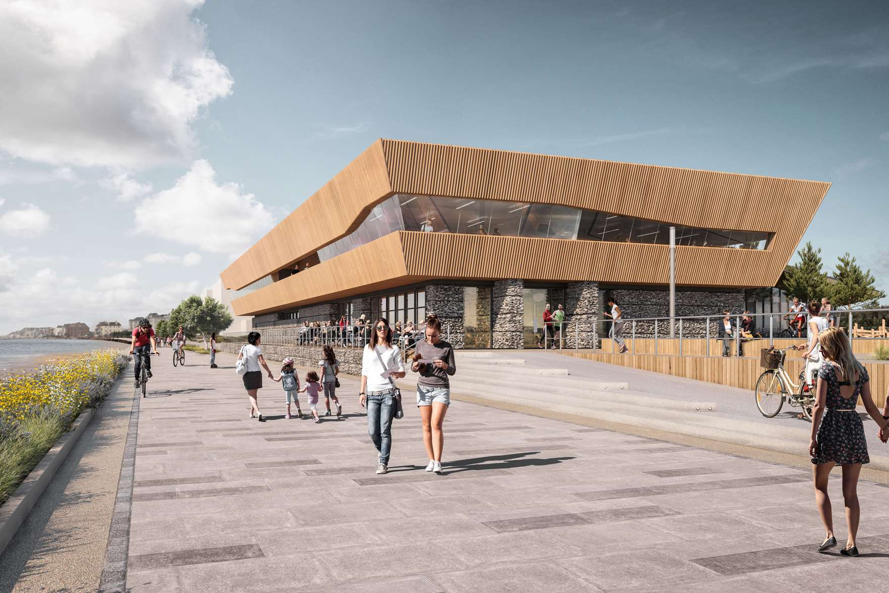 The designs for the proposed leisure centre at Princes Parade in Hythe have been submitted today. Picture: Shepway District Council