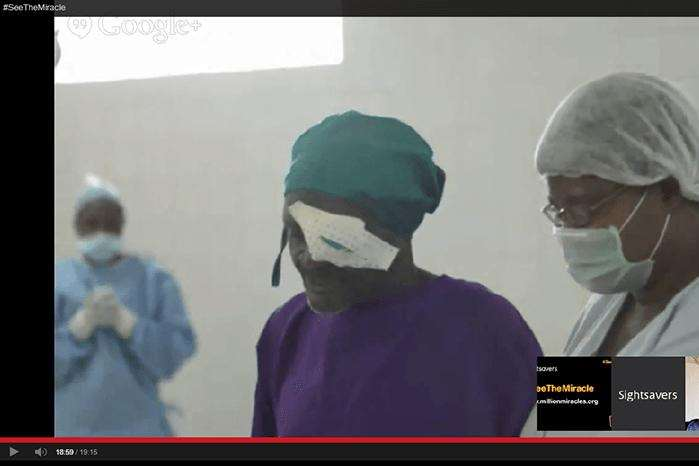 The operation was live streamed across the globe
