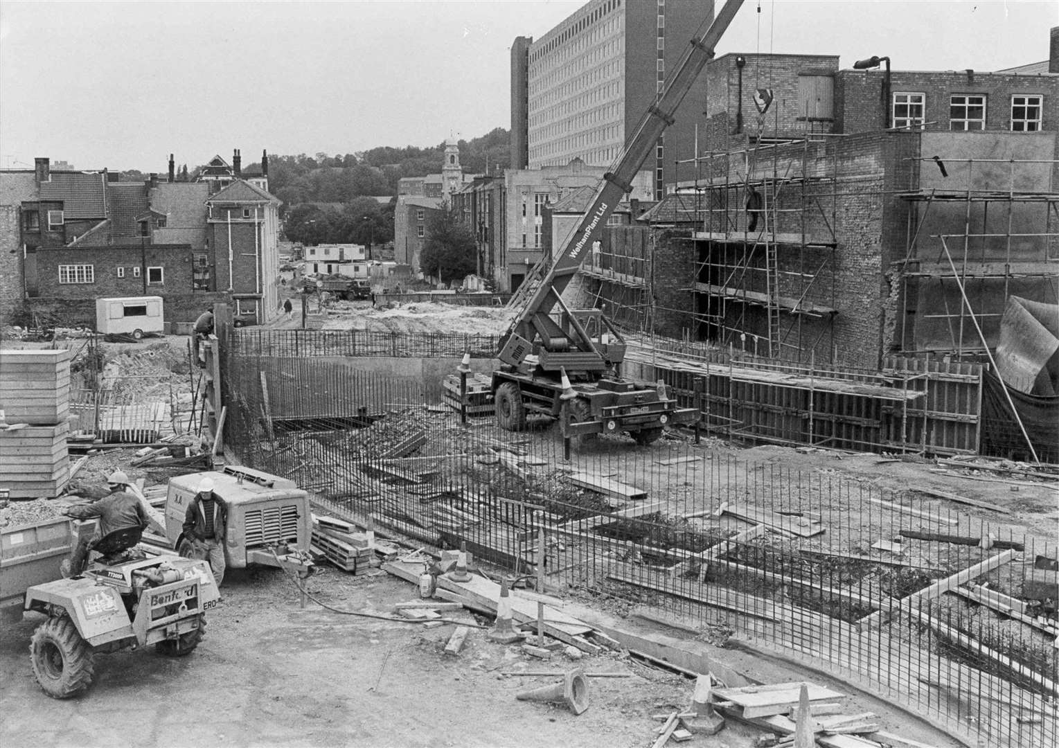 The building of the Sir John Hawkins flyover in 1987 which was part of the Chatham ring road aimed at easing traffic congestion in the town. Picture from the book 'Images of Medway'