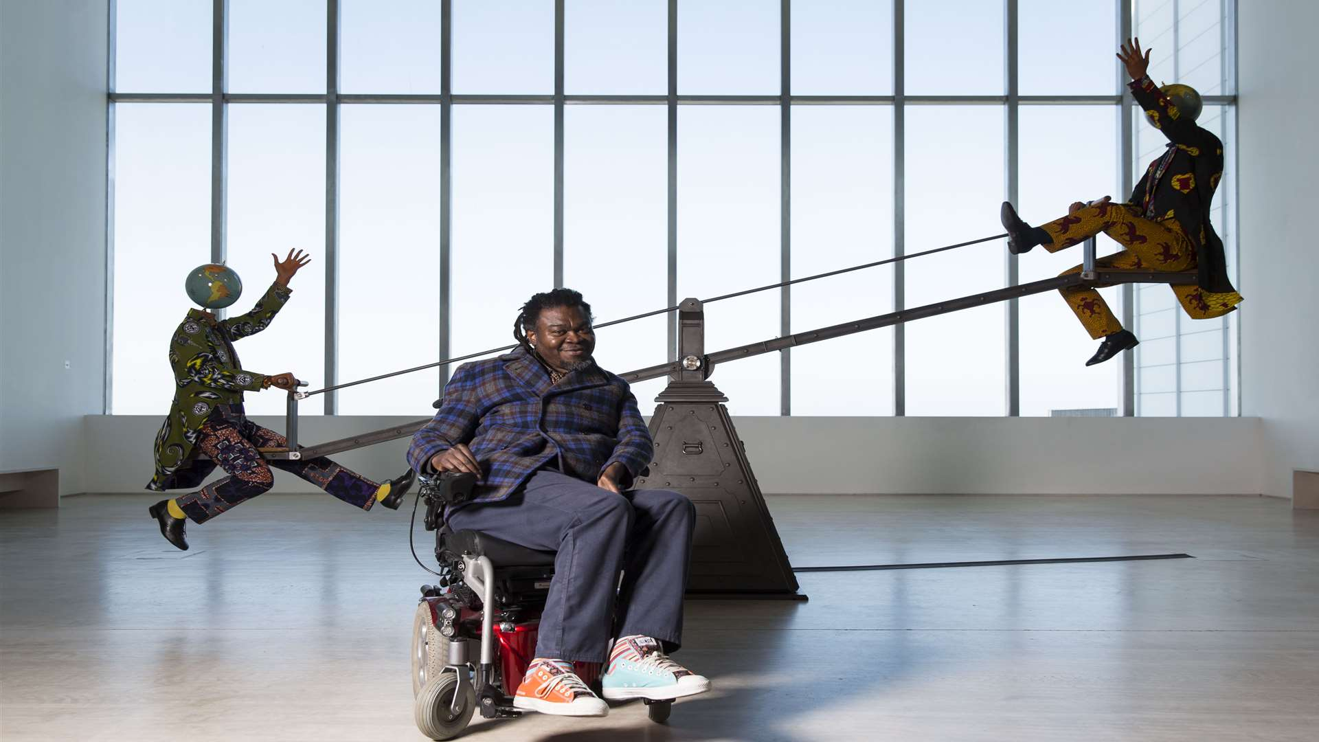 Yinka Shonibare's new work End of Empire is currently on display at the Turner