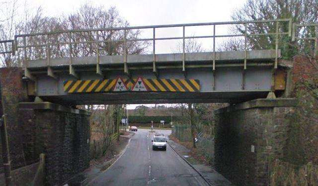 The lorry hit a rail bridge in Borough Green. Picture: Google Street View (7627627)