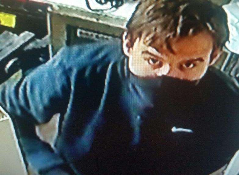 A CCTV image has been released in the hunt for the burglar who targeted The Aviator