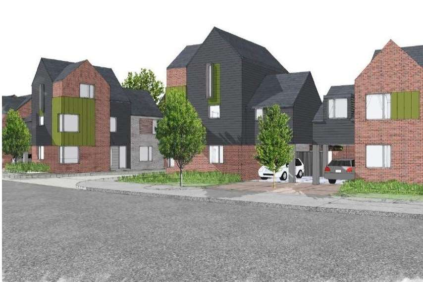 Plans for the new housing estate at Jemmett Road, which replace the old college buildings