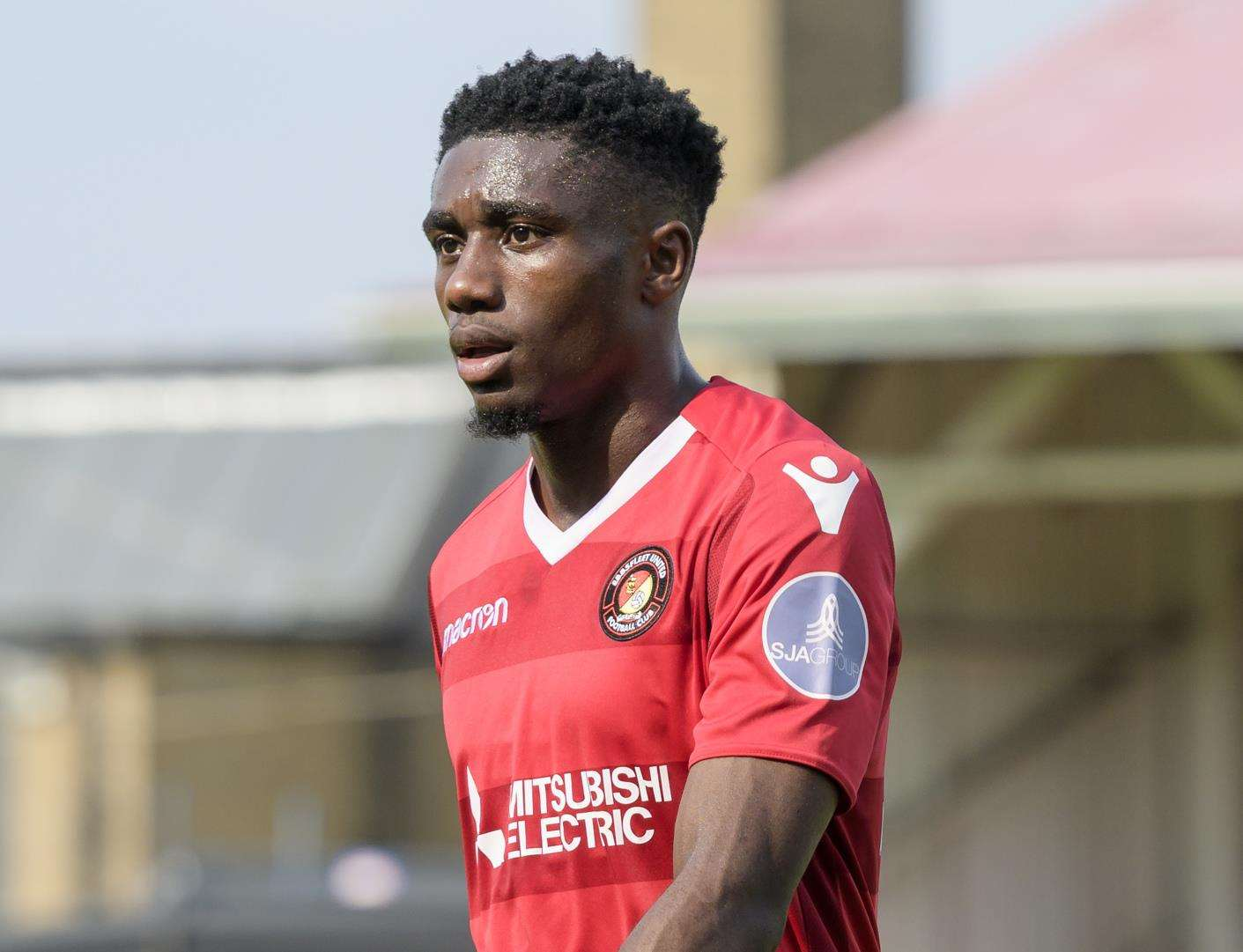 Darren McQueen has joined Dartford on a month's loan Picture: Andy Payton