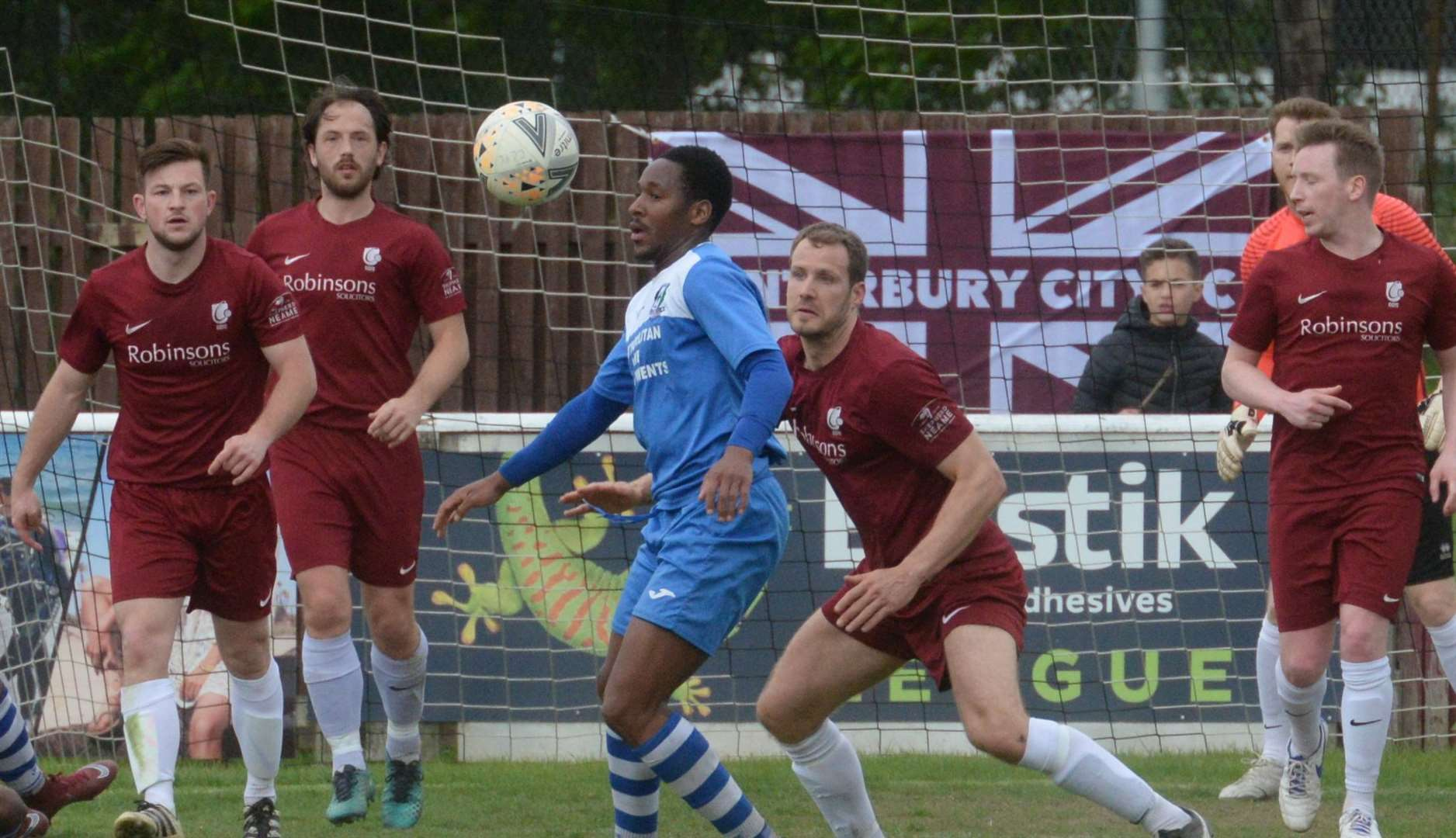 Canterbury City take on Cray Valley at Salters Lane, Faversham on Saturday. Picture: Chris Davey