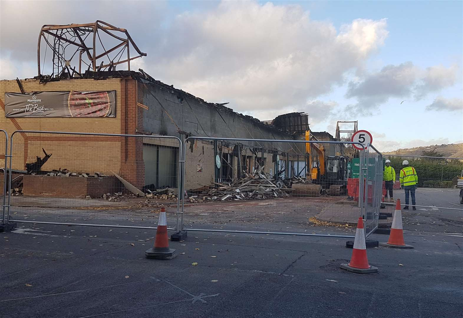 Jobs Safe And Plans Being Made After Morrisons Fire In