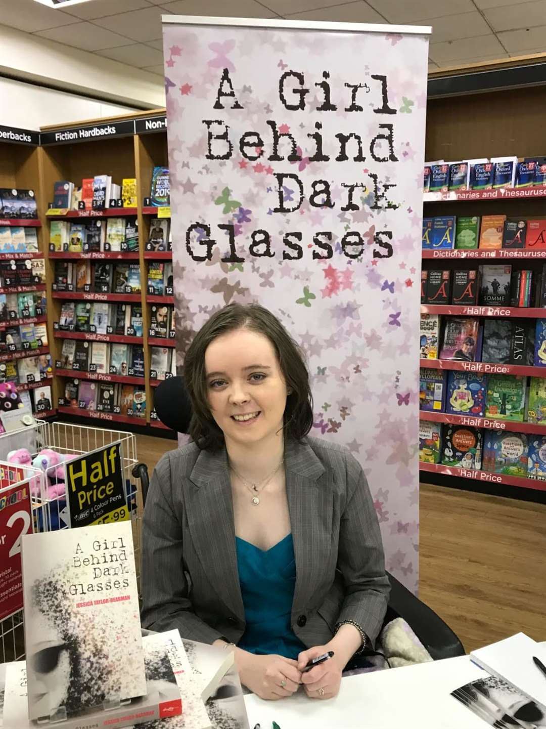 Jessica-Taylor Bearman is an award-winning author after her book A Girl Behind Dark Glasses won at the People's Book Prize